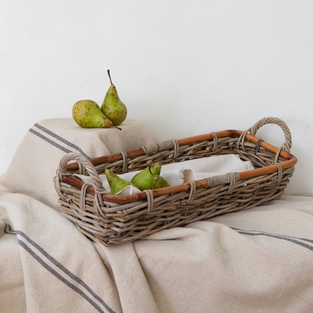 Oblong Kubu basket tray